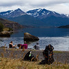 Sitting beside Laguna Sophia near the town of Puerto Natales in Chilean Patagonia.
