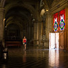 Hallway inside the Santiago Metropolitan Cathedral, off the city's Plaza del Armas.