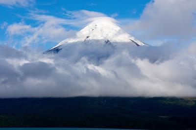 Volcano Osorno from Todos los Santos, Patagonia, Chile  http://www.volcano.si.edu/world/volcano.cfm?vnum=1508-01=