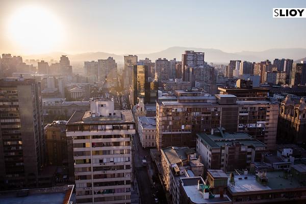 Skyline of Santiago, Chile.