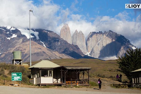 Laguna Amarga entrance to Torres del Paine National Park.