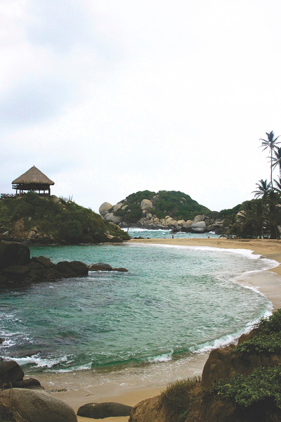 Playa Cabo San Juan. You can camp in the hammocks in the small hut. June 2017