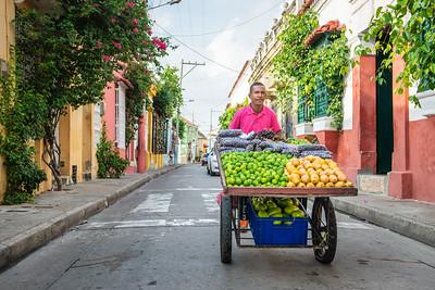 Fruit seller ... Cartagena