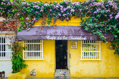 Colourful streetscape in Cartagena, Colombia