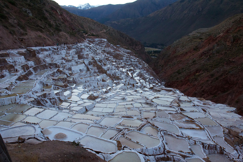 Salt pans at Maras, Peru<br /> Copyright 2012, Tom Farmer