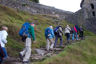 Our first steps at Machu Picchu