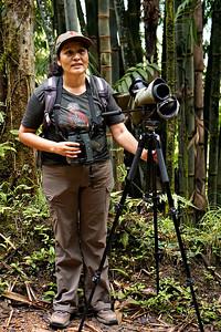 Julia Patina, my bird guide in Mindo, Ecuador