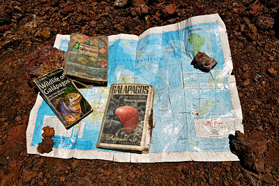 Our guide Daniel's supplies, Sierra Negra and Chico Volcano hike, Isabela Island, Galapagos