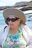 Barbara on Chinese Hat Volcano Beach, Galapagos Islands