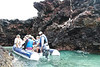 Pangas to the Chinese Hat Volcano Shore, Galapagos Islands