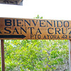 Welcome Sign to Santa Cruz Island, Galapagos