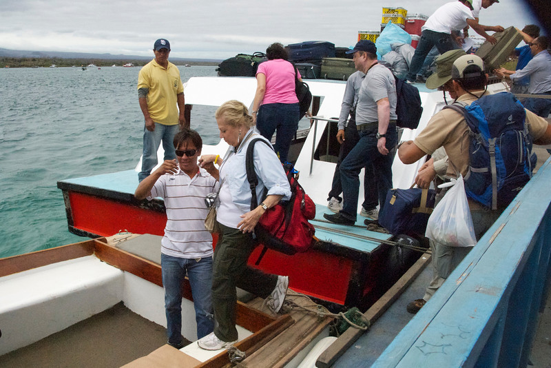 Our Ferry from Bastra to Santa Cruz Island, Galapagos