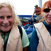 Isobel and Rochelle Aboard our Panga, Galapagos