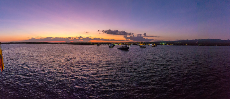 Sunset in Puerto Ayora, Galapagos