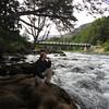 Bridge over Rio Manso in Nahuel Huapi National Park outside Bariloche