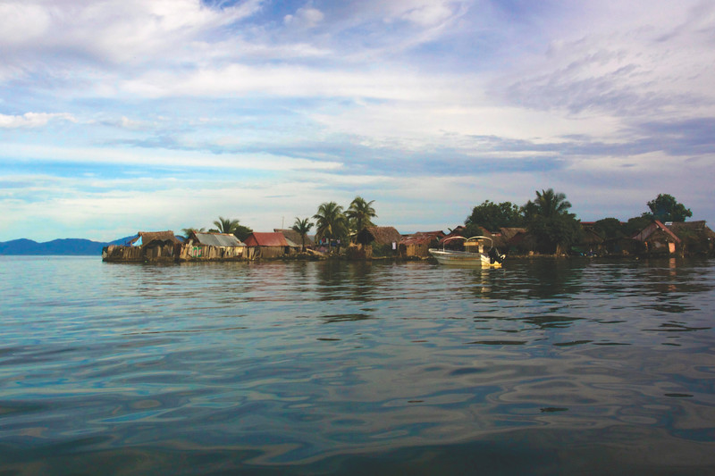 Kuna/Guna village, the only inhabitants of the San Blas Islands. August 2017