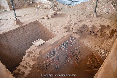 part of Huaca de la Luna from Moche Civilazation (100-800 CE)