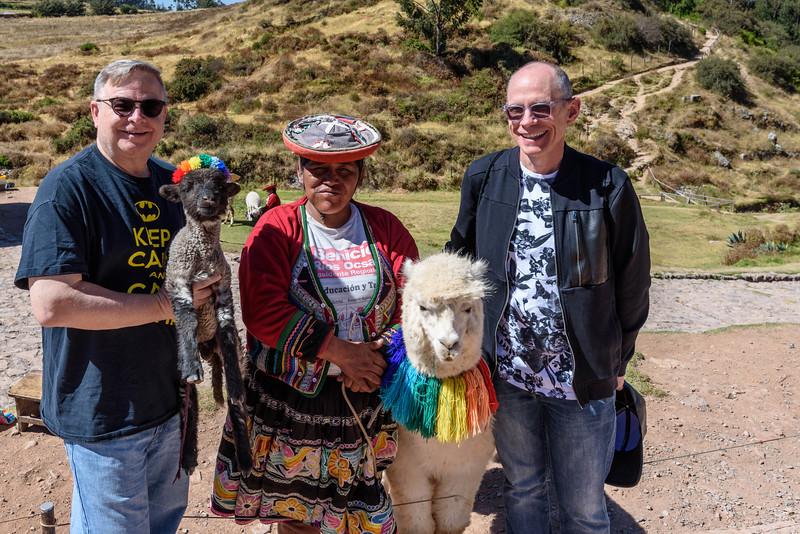 George and David with Llama