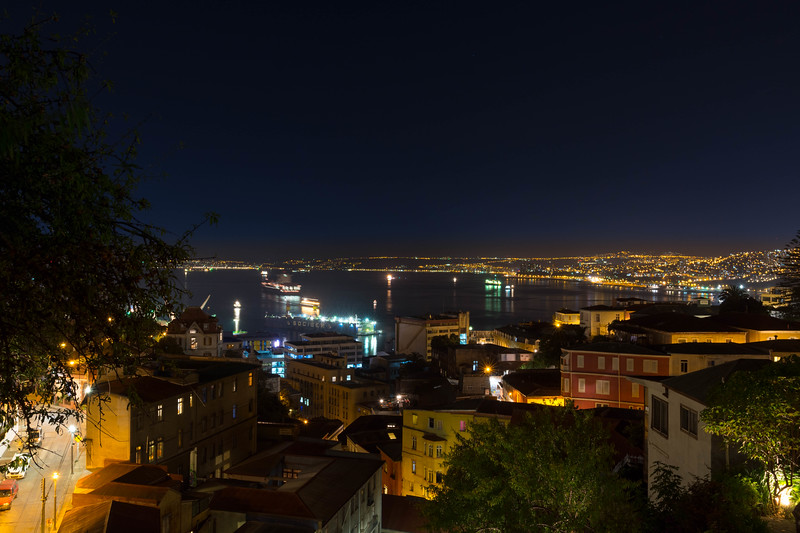 Night View of Port