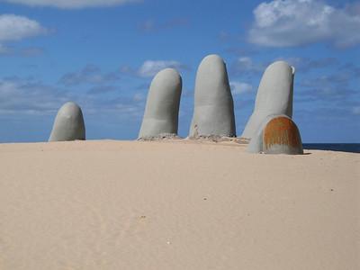 Hand sculpture, Punta del Este.