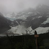 The weather was terrible in the Valle Francés. This is what we could see of Glacier Francés.