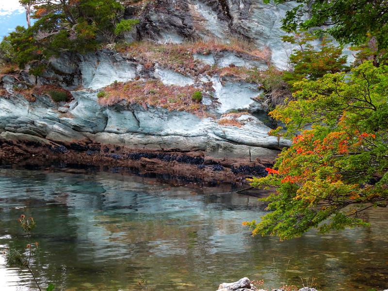 Rock wall in Tierra del Fuego National Park