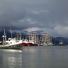 The harbor in Ushuaia, on the Beagle Channel