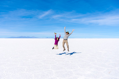 On the Uyuni Salt Flats