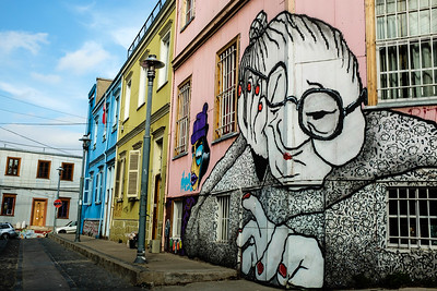 Valparaiso is filled with murals and street art