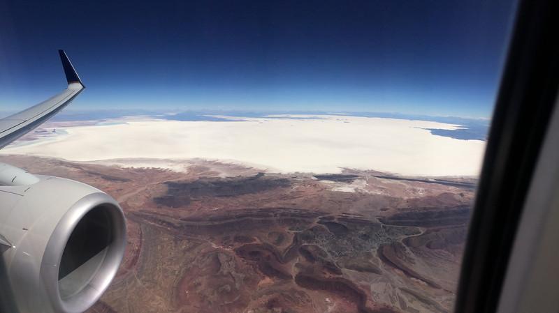 The Salar de Uyuni in Bolivia - the world's largest salt flat.