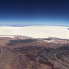 The Salar de Uyuni in Bolivia - the world's largest salt flat.