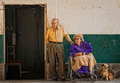 Watching the Store, San Ignacio, Baja, Mexico