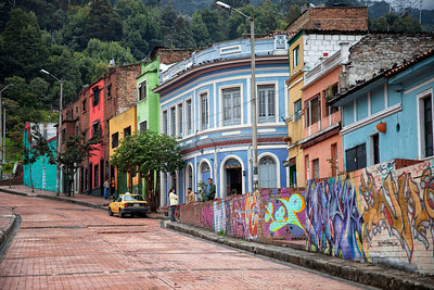 Colorful Streets of Bogota, Columbia