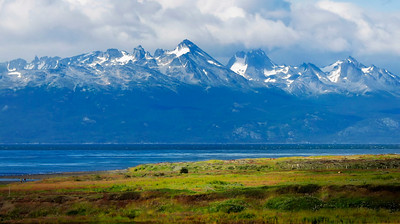 Dumas Peninsula in Chile from Argentina across the Beagle Channel