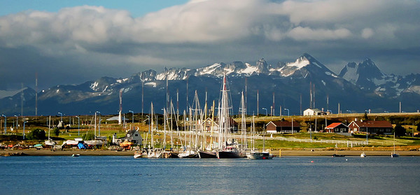 Looking towards Chile from Ushuaia, Argentina