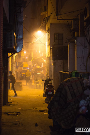 Alleys of Pahar Ganj in Delhi.