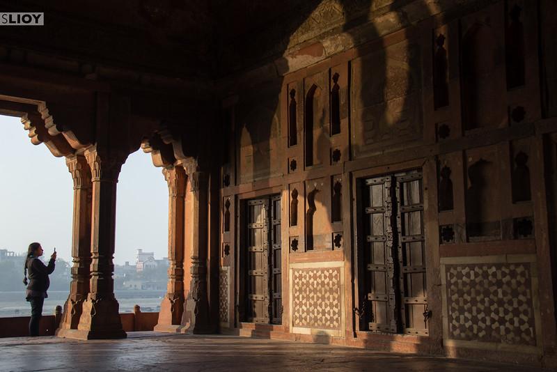 Selfie time at the Baby Taj Mahal.