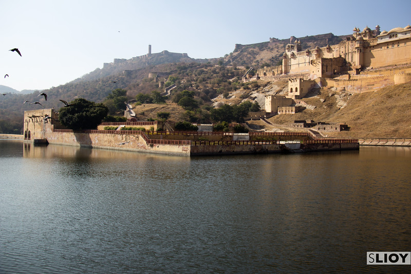 Peaceful moment at the Amber Fort.