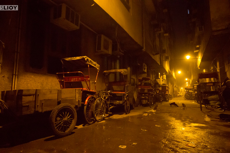 Even the rickshaws rest sometimes.