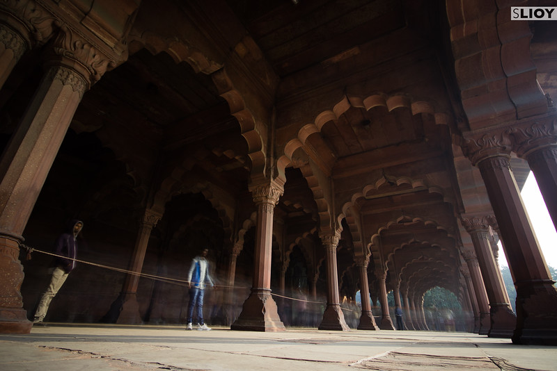 A still moment in the crowds of the Red Fort in Delhi.
