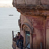 Old haveli palace overlooking the Ganges.