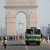 Approaching (and departing) India Gate in Delhi.