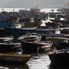 Boats near Dashashwamedh Ghat in Varanasi.