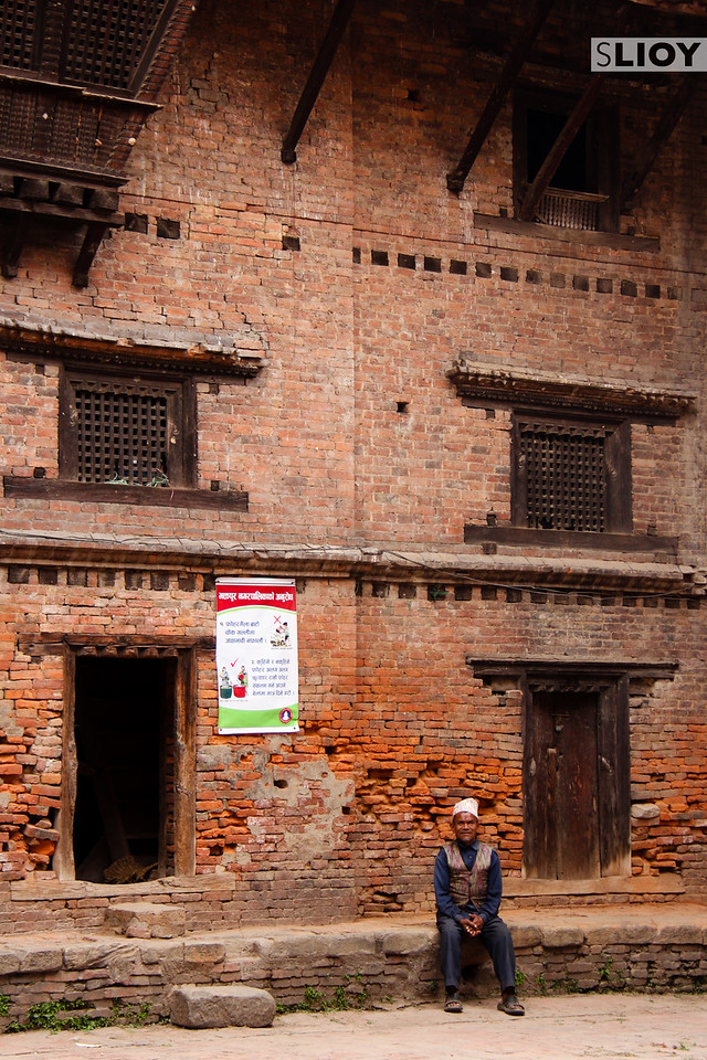 Side-Street Portrait at Bhaktapur Durbar Square.