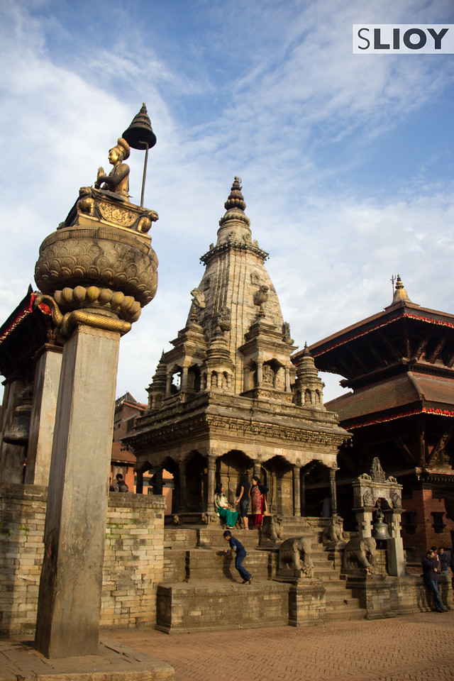 Temple in Bhaktapur Durbar (Palace) Square.