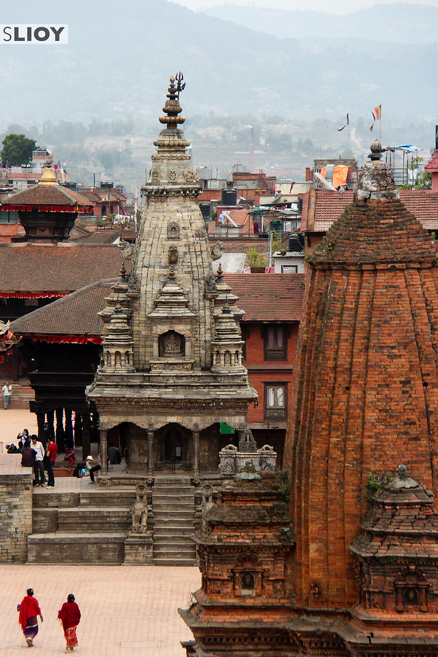Top-Down View of Bhaktapur Durbar Square.