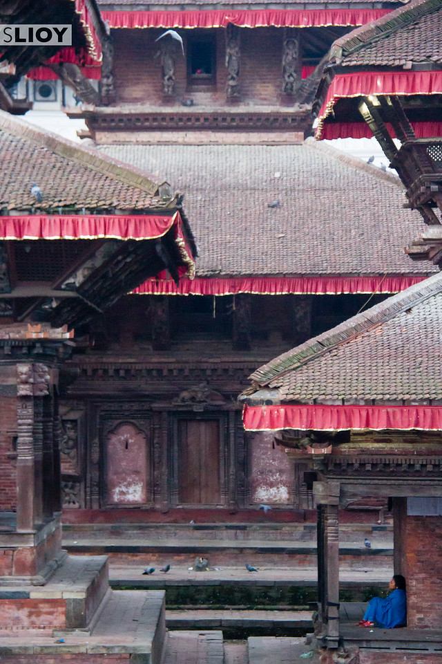 A quiet early morning in Kathmandu's Durbar (Palace) Square.