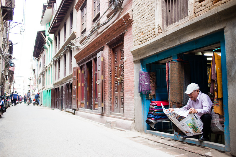 Open for business in Patan Kathmandu Nepal.