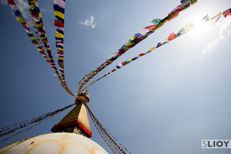 Boudanath Gompa Prayer Flags.