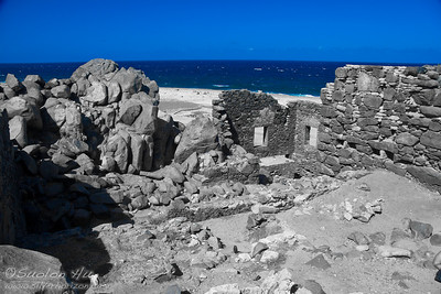 Bushiribana Ruins, Aruba (blue)